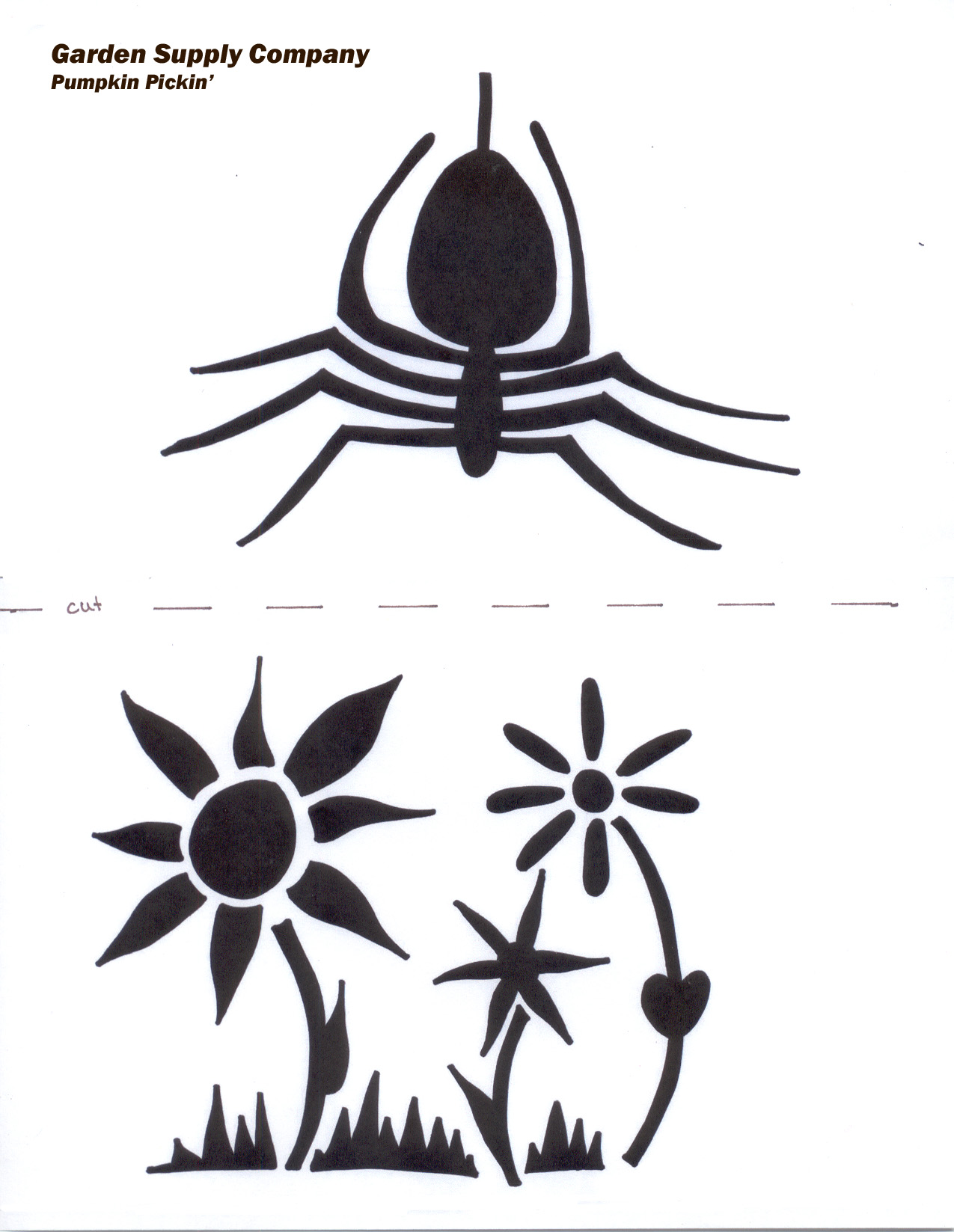 Pumpkin carving spiders stencils