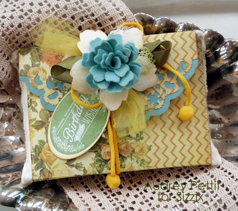 Audrey Pettit Sizzix Birthday Wishes Gift Wrap