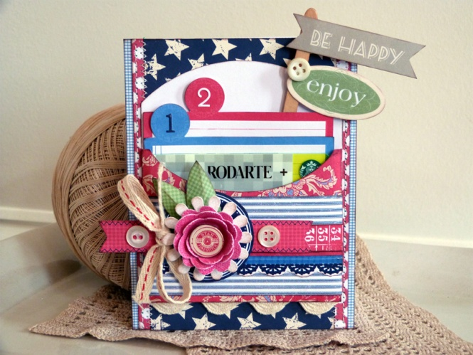 AudreyPettit LYB Vintage Summer Enjoy Gift Card Holder