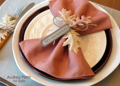Audrey Pettit Sizzix Fall Leaves Place Settings