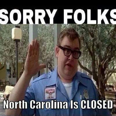 north carolina is closed