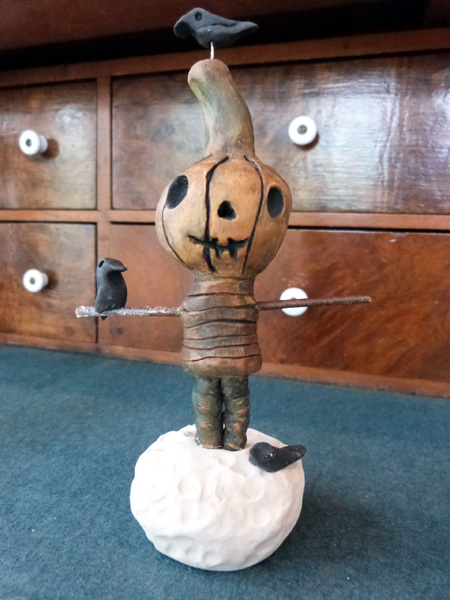 AudreyPettit WIP clay pumpkinhead