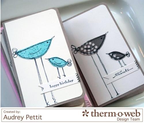 AudreyPettit Thermoweb iCraftBirdNotecards