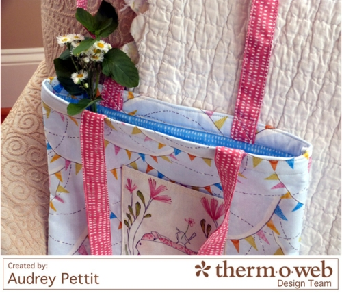 AudreyPettit Thermoweb BlendFabric HelloWorldTote3
