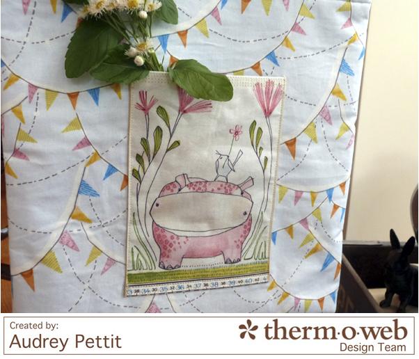 AudreyPettit Thermoweb BlendFabric HelloWorldTote4