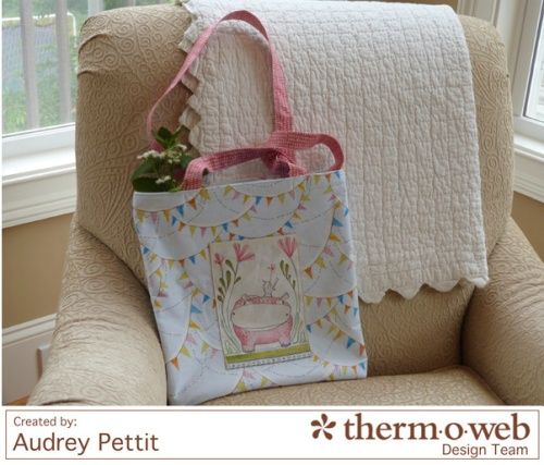 AudreyPettit Thermoweb BlendFabric HelloWorldTote5