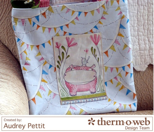 AudreyPettit Thermoweb BlendFabric HelloWorldTote6