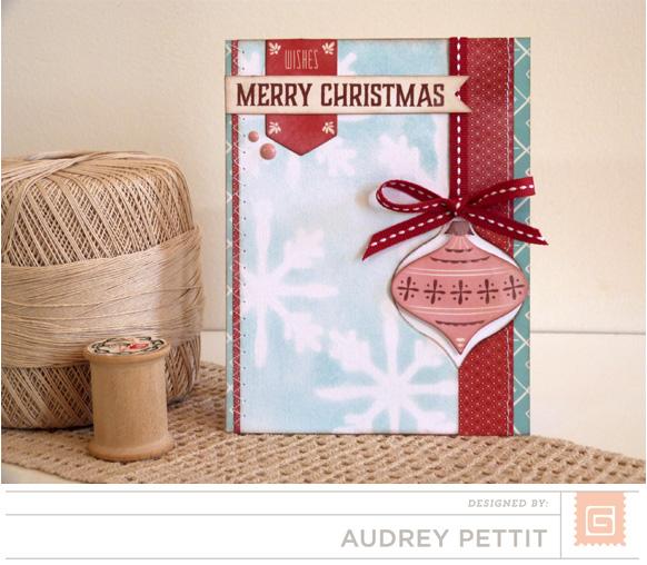 AudreyPettit BG Evergreen MerryChristmasCard