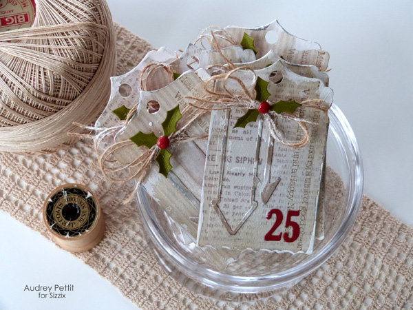 AudreyPettit Sizzix December25Tags