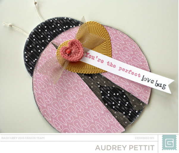 Perfect Love Bug card by Audrey Pettit