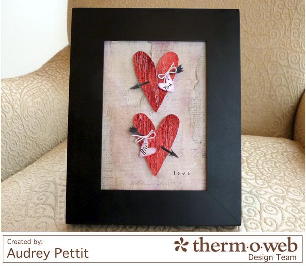AudreyPettit Thermoweb DecoFoil LoveFrame
