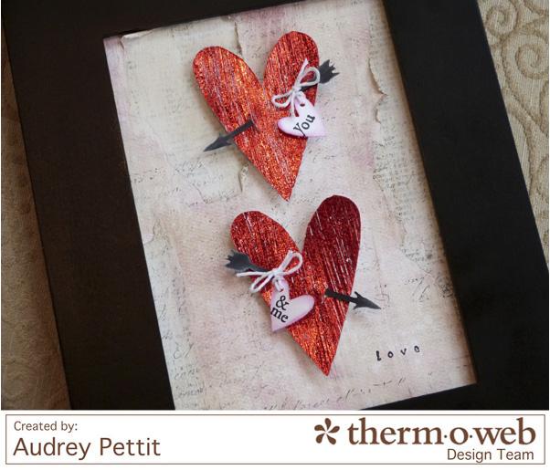 AudreyPettit Thermoweb DecoFoil LoveFrame2