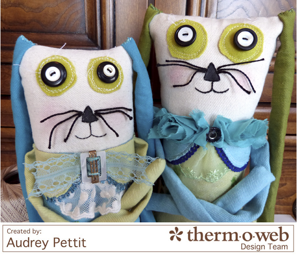 AudreyPettit Thermoweb DecoFoilBunnyPair2