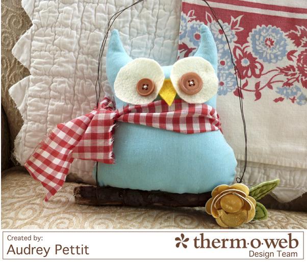 AudreyPettit Thermoweb DecoFoil OwlHanger