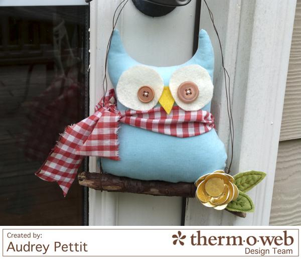 AudreyPettit Thermoweb DecoFoil OwlHanger3