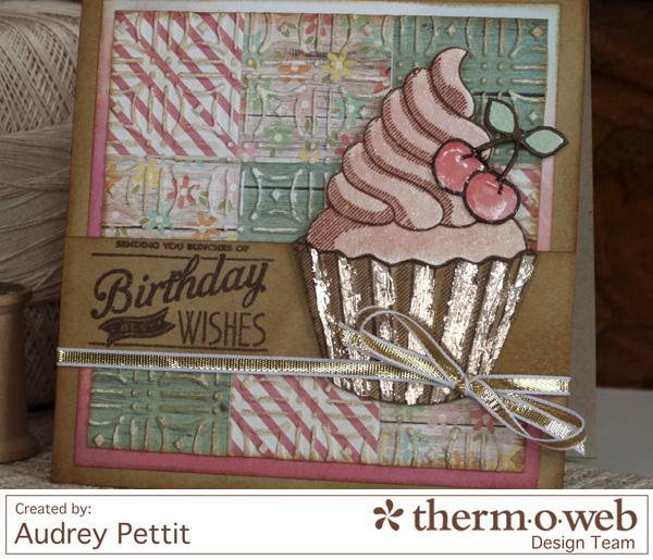 AudreyPettit Thermoweb DecoFoilBirthdayWishesCard2