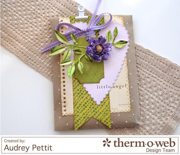 AudreyPettit Thermoweb DecoFoil LittleAngelBag