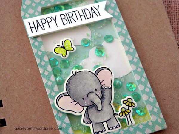 AudreyPettit 28LilacLane ElephantBirthdayShakerTag2