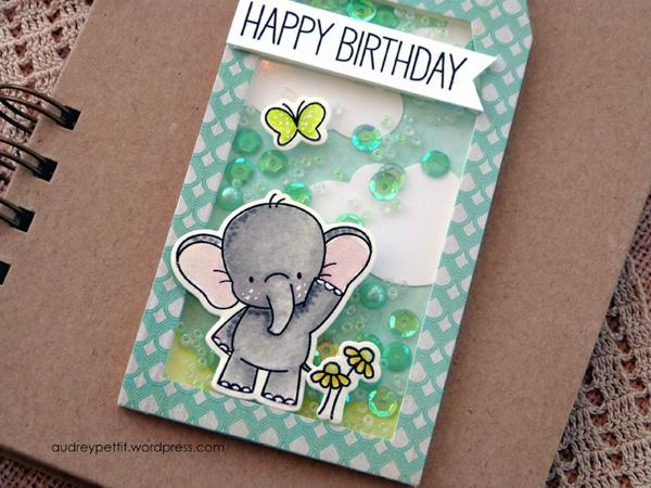 AudreyPettit 28LilacLane ElephantBirthdayShakerTag3