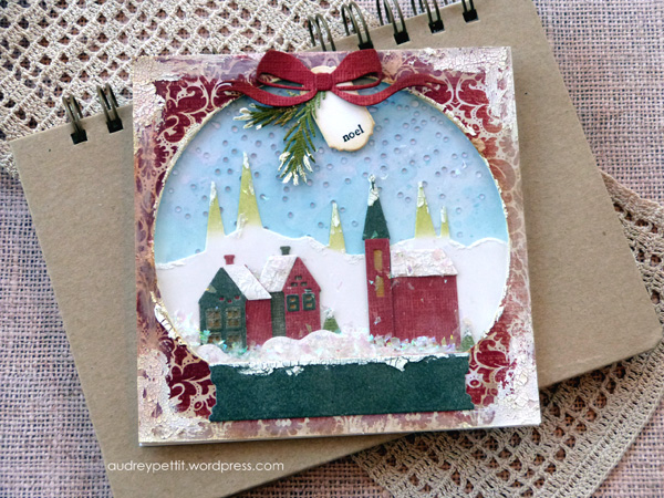 Sizzix Tim Holtz Thinlits Dies Snowman Scene Christmas Winter